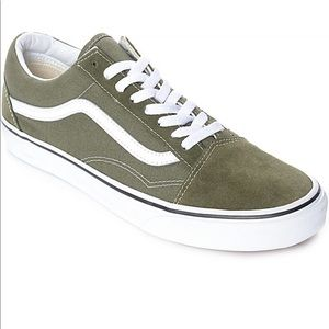 Vans old skool green suede